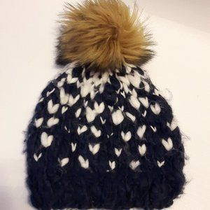 Adorable Faux Fur Pom Pom Hat Winter Joe Fresh